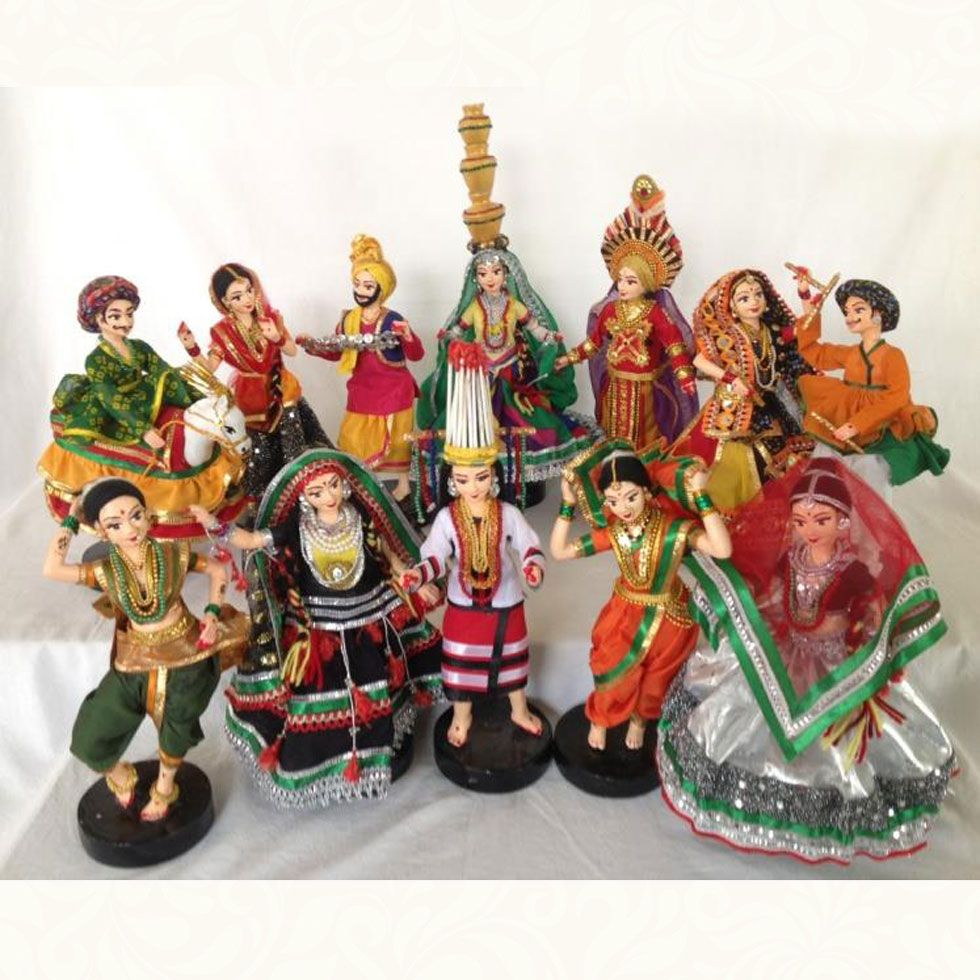 Cultural dolls indian folk dance set indian dolls cute