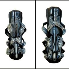 Bougie Sculptee 20 Cm Bougie Artisanale Bougie Fait Main Bougie