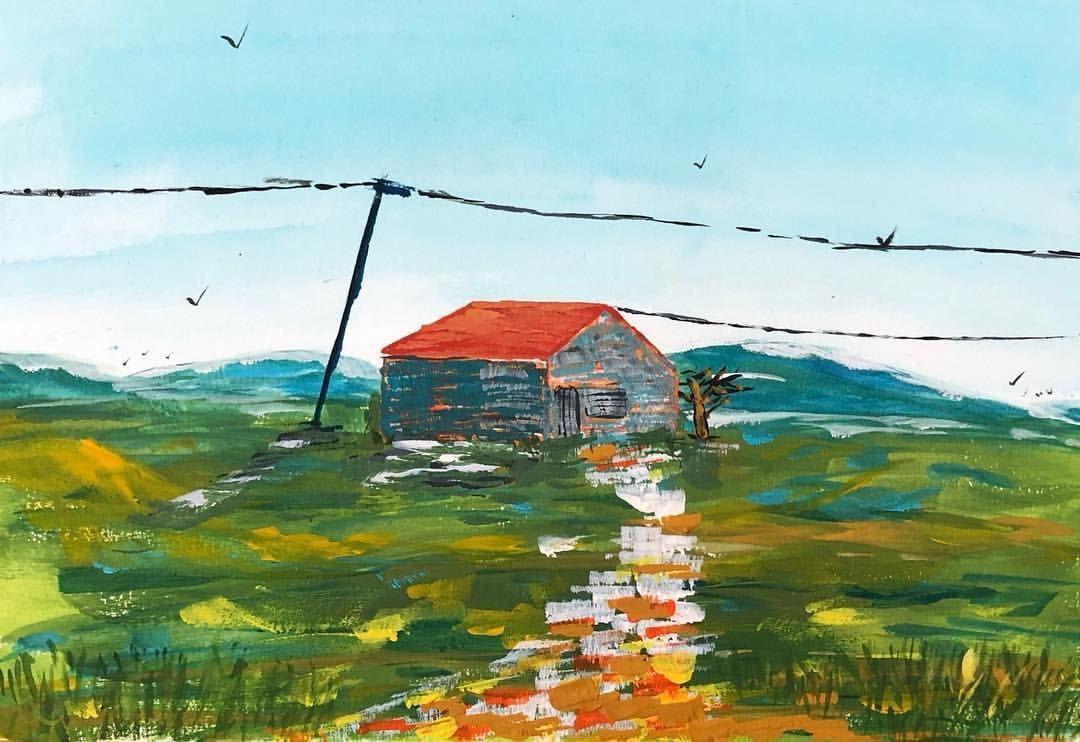 Vielle Maison Gouache Gouachepainting Watercolor