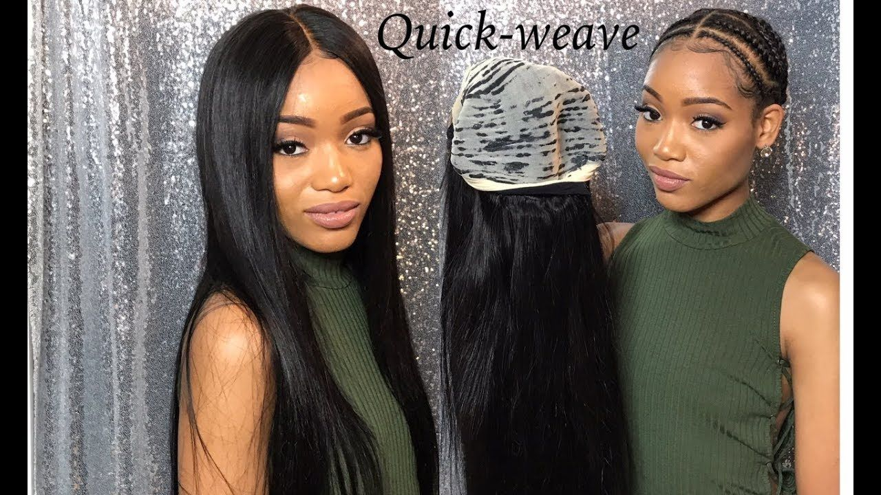 How to do a removable glueless quick weave with a closure
