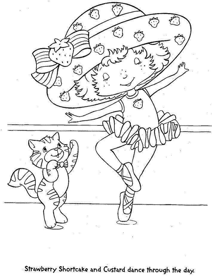 Printable Coloring Page Strawberry Shortcake Strawberry Shortcake Strawberry Shortcake Coloring Pages Dance Coloring Pages Coloring Pages