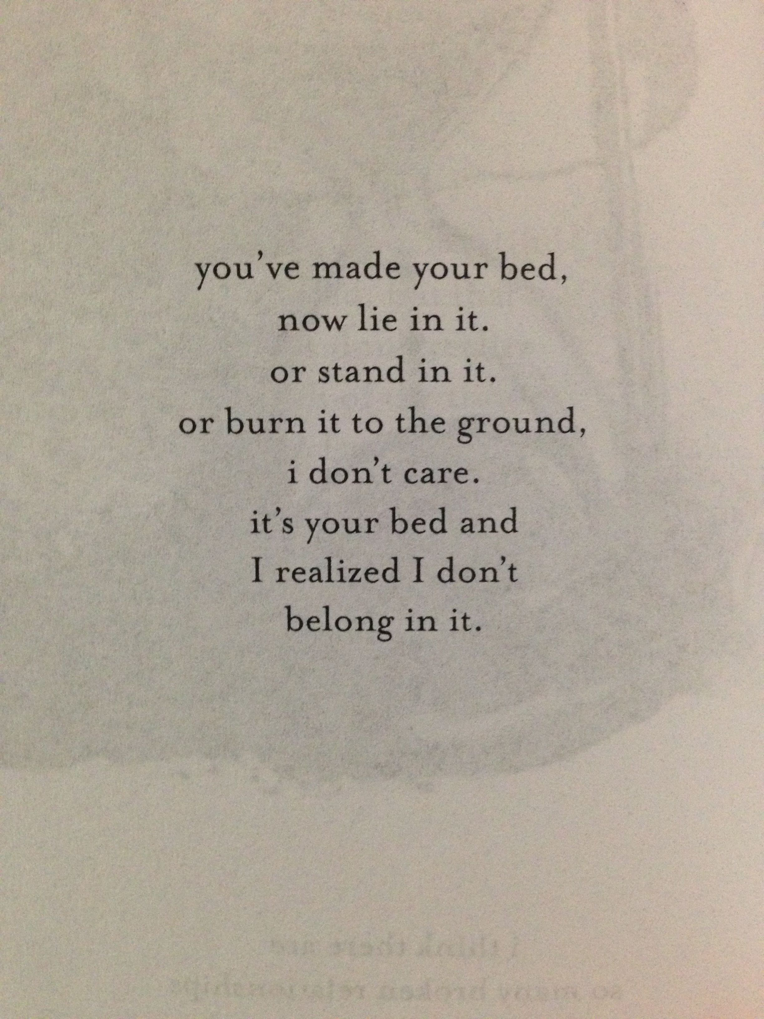 Burn Your Bed To The Ground Jm Storm Make Your Bed Quotes Burns