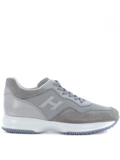 HOGAN Sneaker Hogan Interactive In Light Grey Suede And Leather. #hogan # shoes #