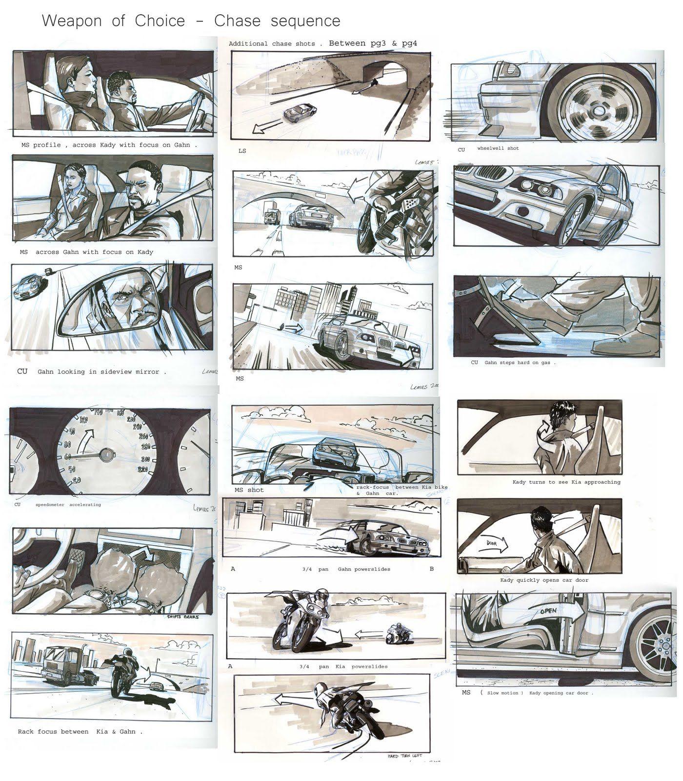 Car Storyboards  Storyboards    Storyboard Animation