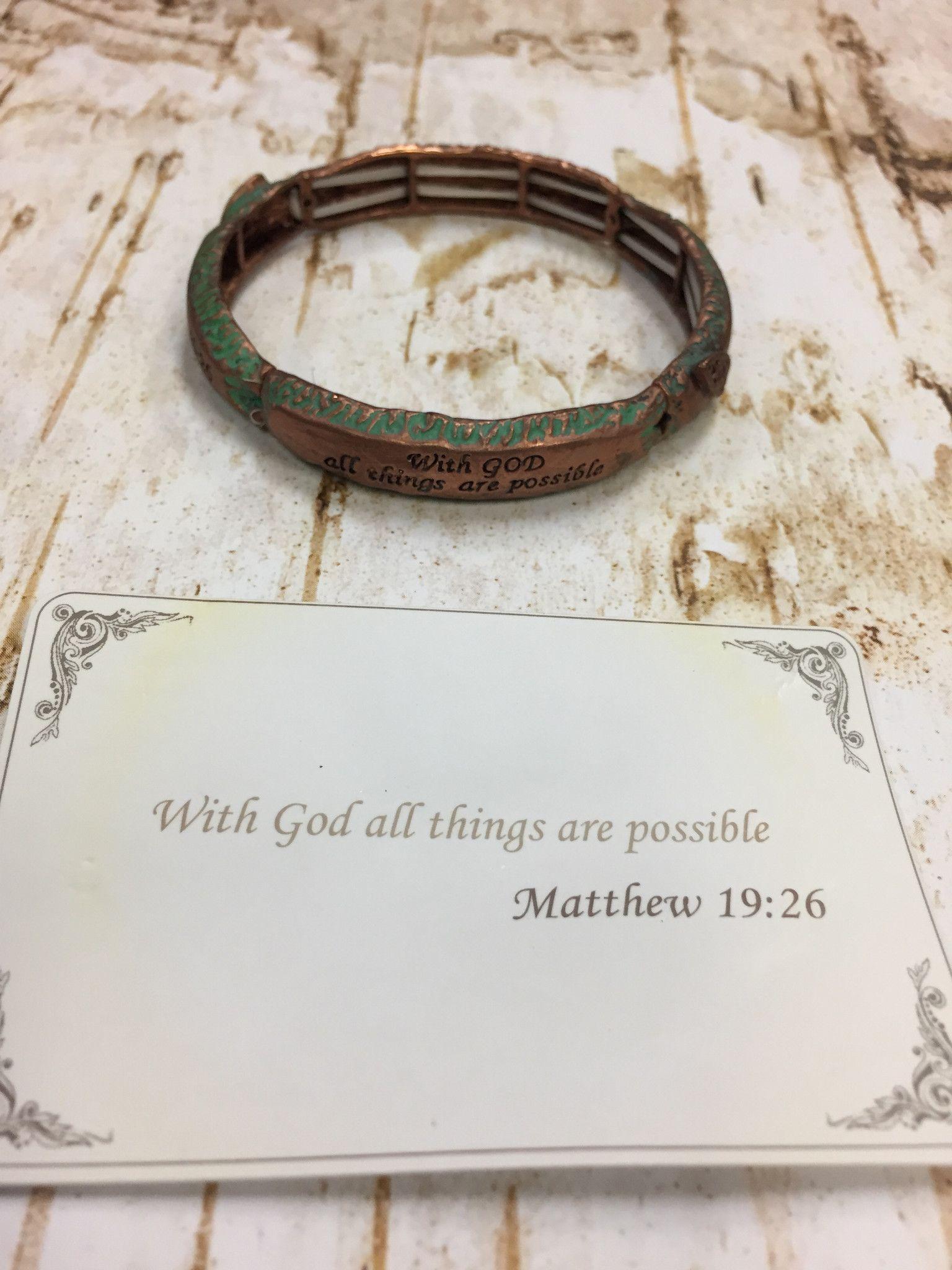Matthew 19:26 Bracelet