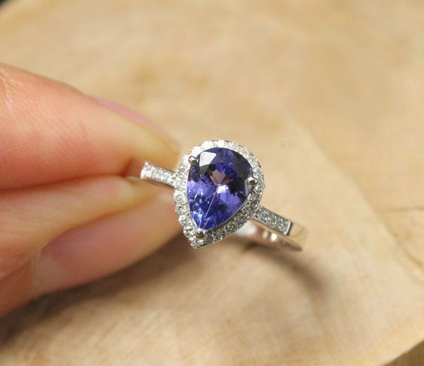 item wedding white gold women design diamond made on jewelry accessories from for rings tanzanite by in engagement brilliant oval elegant ring