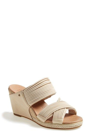 452b47e6421 UGG® 'Hilarie' Wedge Sandal (Women) available at #Nordstrom | unique ...