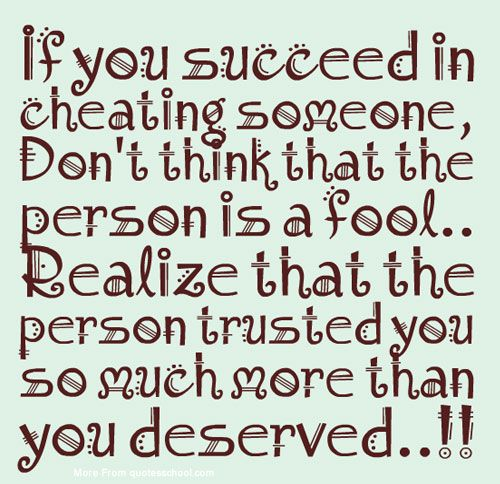 Someone Cheating You Is If On