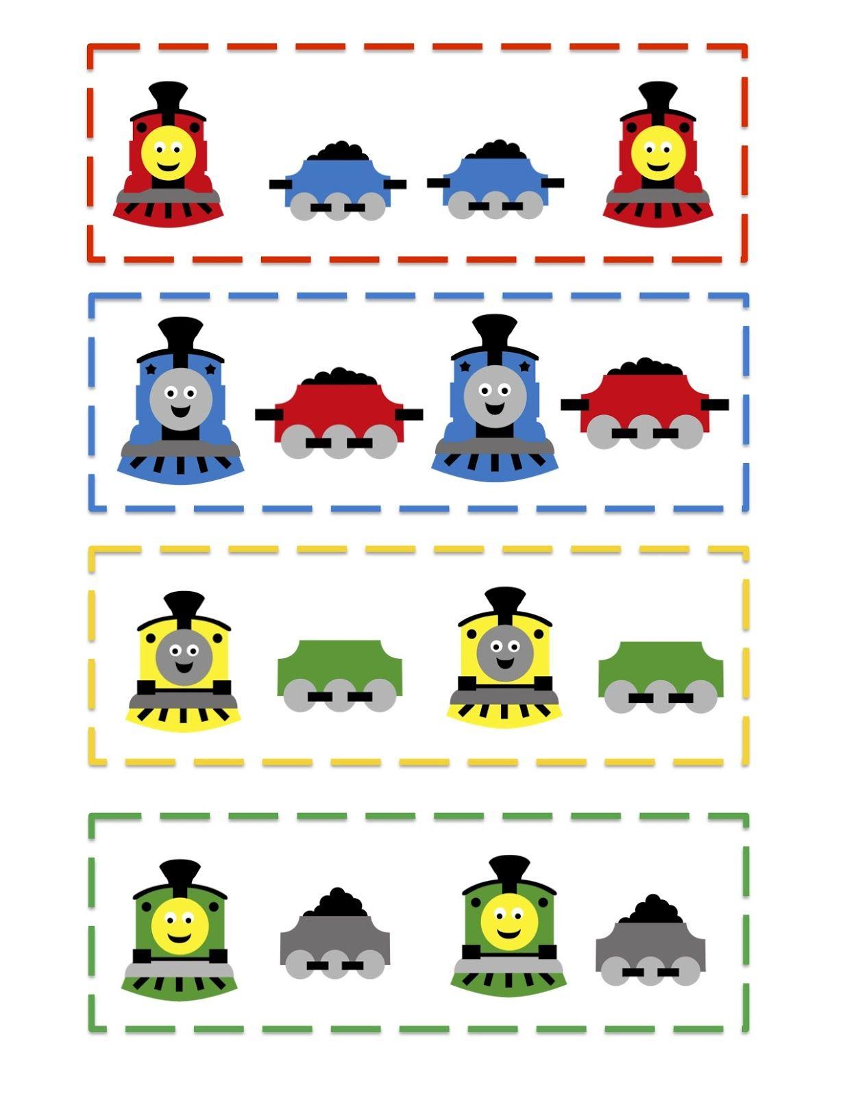 Preschool Printables Train