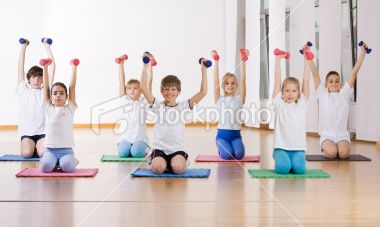 Children Doing Exercise With Weights Royalty Free Stock Photo Exercise For Kids Do Exercise Exercise