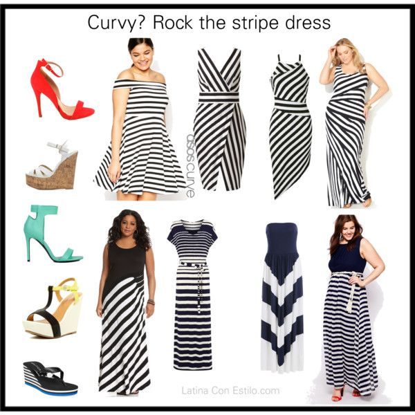 Rock the stripes dress by latinaconestilo on Polyvore featuring moda, Lane Bryant, Club L, Ally Fashion, ASOS Curve, Oasis, Coconuts by Matisse, Mixx Shuz, Akira Black Label and Charlotte Russe