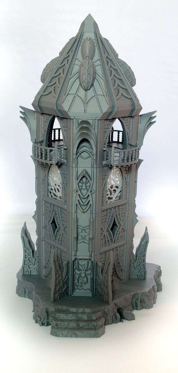 Skyless Realms - Dark Elf Modular Tower - 28mm 32mm Wargaming Terrain D&D, DnD, Pathfinder, SW Legio #wargamingterrain