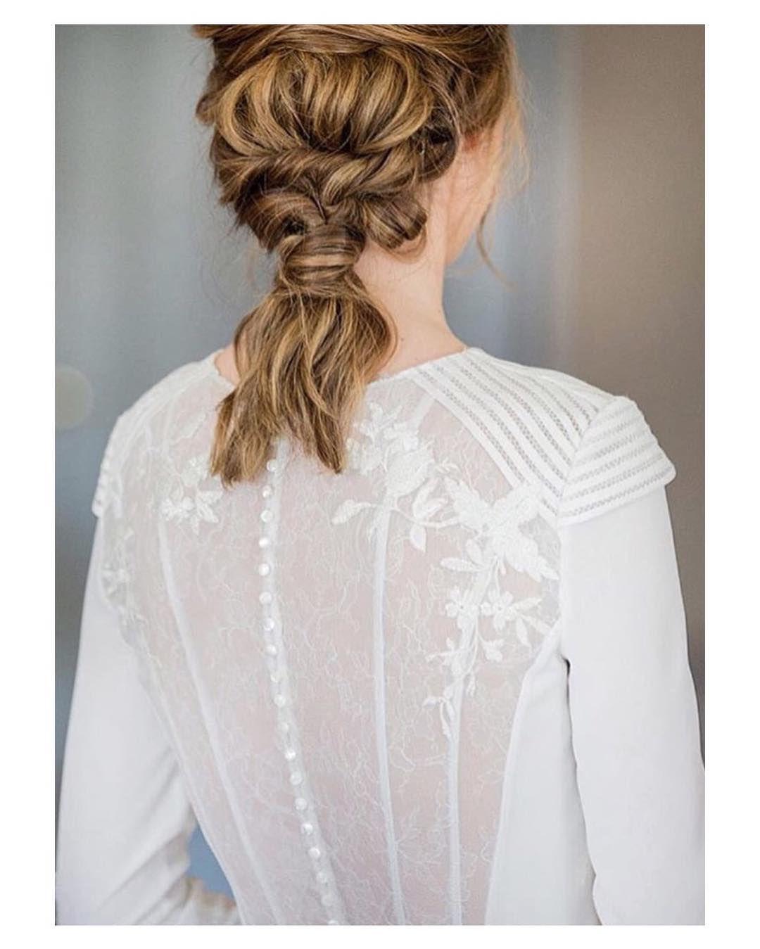 Cómo me gusta esta novia; su espalda y su peinado { by @ecampanario ...