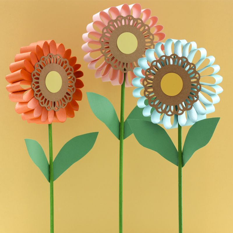 Flowers for all ages easy kids crafts spring craft Summer craft ideas for adults