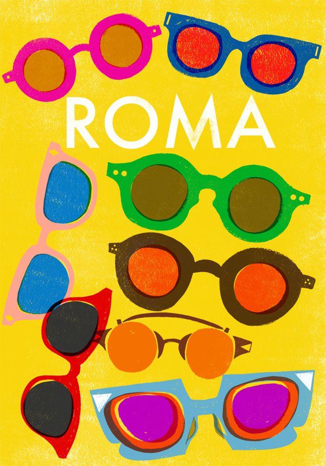 Roma Travel Poster - Sarah Tanat-Jones