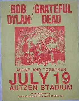 Dylan And The Dead My Bday Bob Dylan Bob Dylan Poster Concert Posters