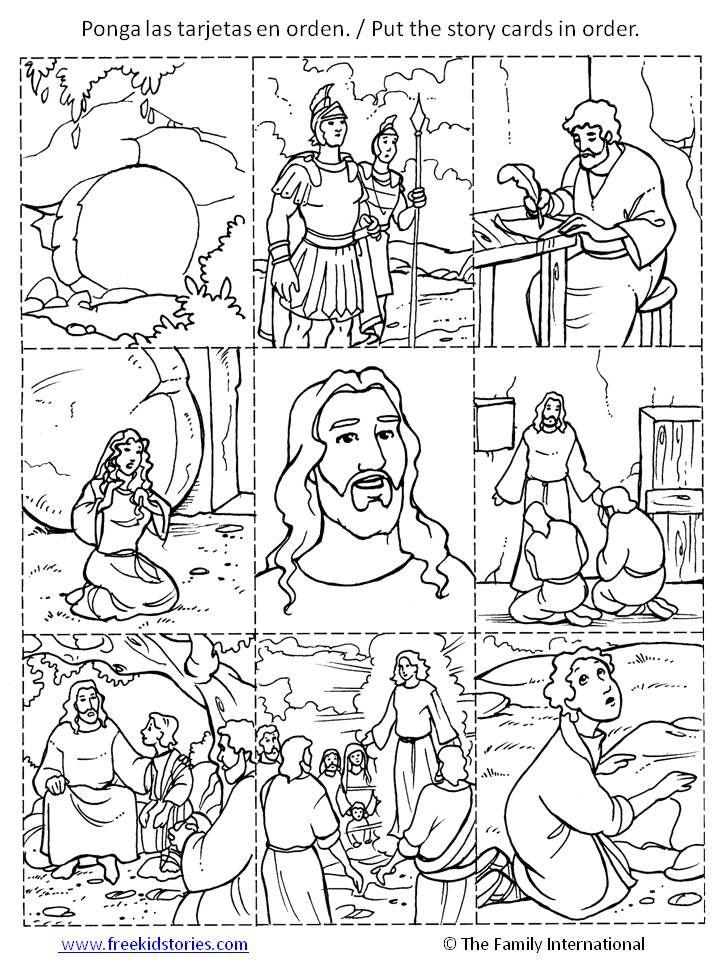 Histoire de Pâques - Para descargar los paginas de pintar de Pascua ...