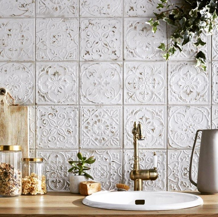The Southern Millennial On Instagram I Ve Been Obsessing Over Textured White Tiles Lately They Give S Kitchen Tiles Design Kitchen Wall Tiles Kitchen Tiles