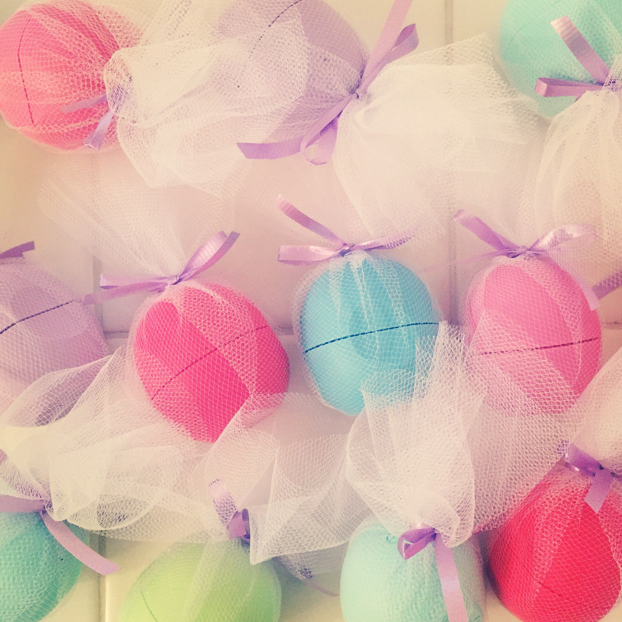 Eos favors for a teenage girls birthday