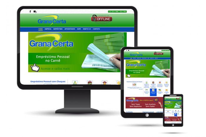 heradigital.com.br Novo site para a financeira Grana Certa, integrado com as redes sociais e sistema de orçamento.