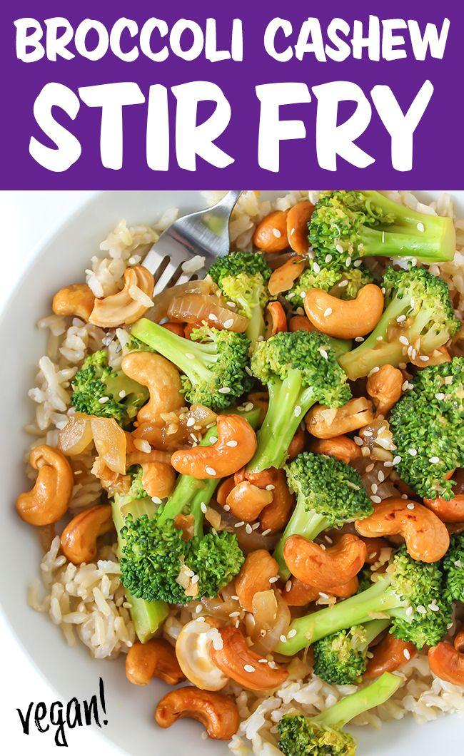 Broccoli Cashew Stir-Fry (Oil-Free!) | The Garden Grazer
