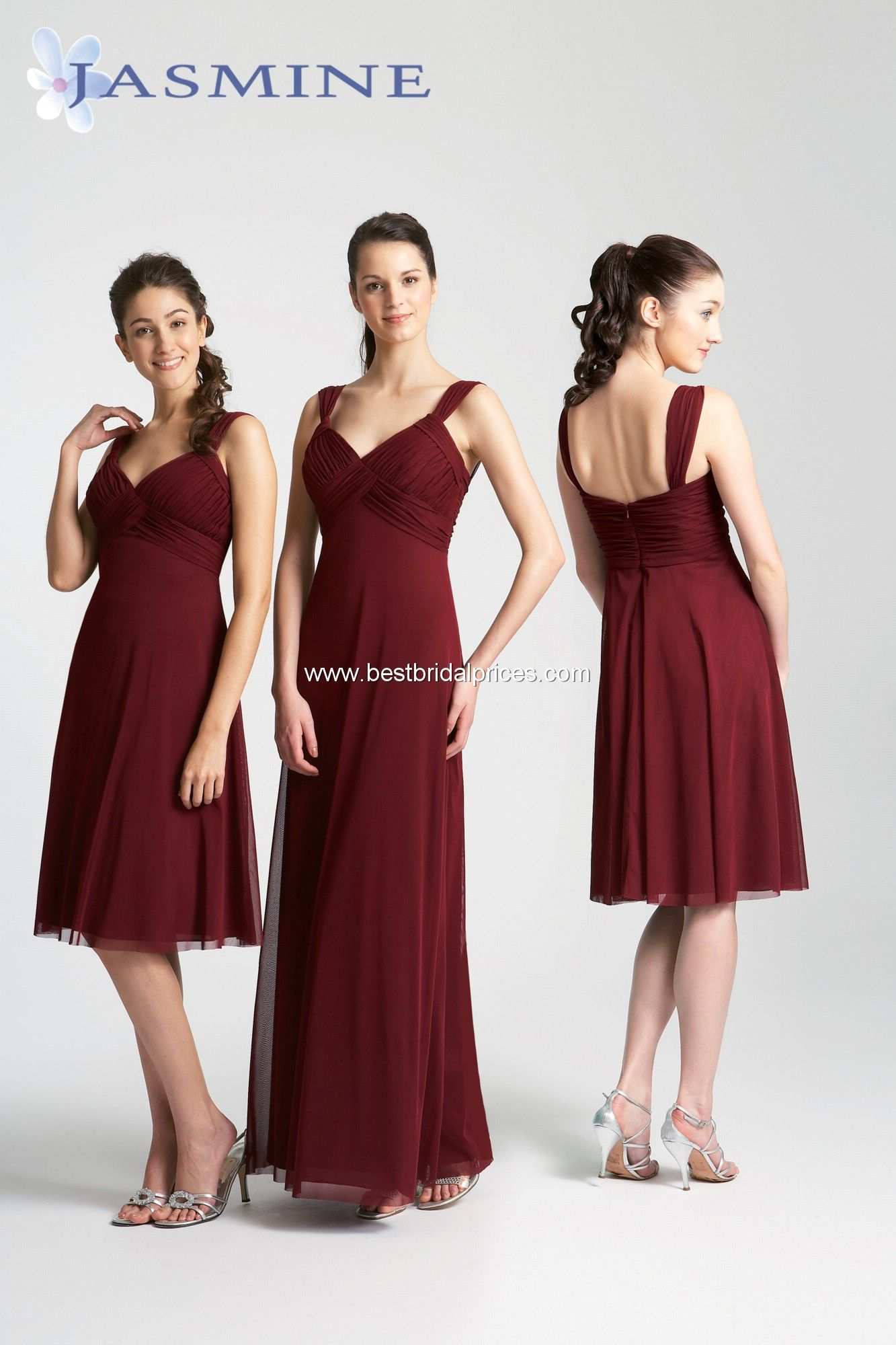 "Garnet Bridesmaid Dress (""Jasmine"" P39065K) 