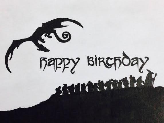 Hobbit Birthday Card By Aoinokokoro Deviantart Com On Deviantart Birthday Cards Happy Birthday Art The Hobbit