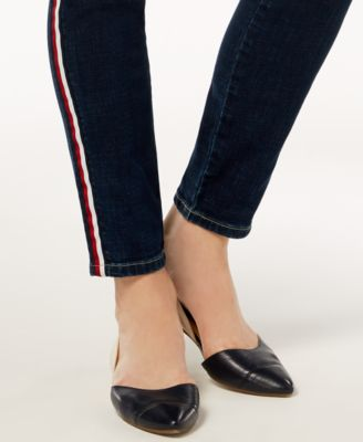 f961e04b Tommy Hilfiger Side-Stripe Skinny Jeans, Created for Macy's - Blue ...