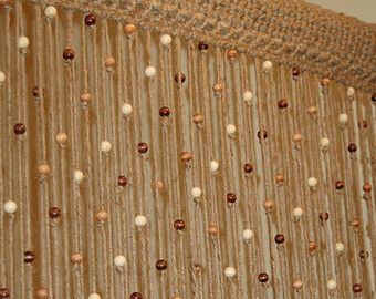 Hanging Beads Jute Crochet Door Window Curtain Amp Tie