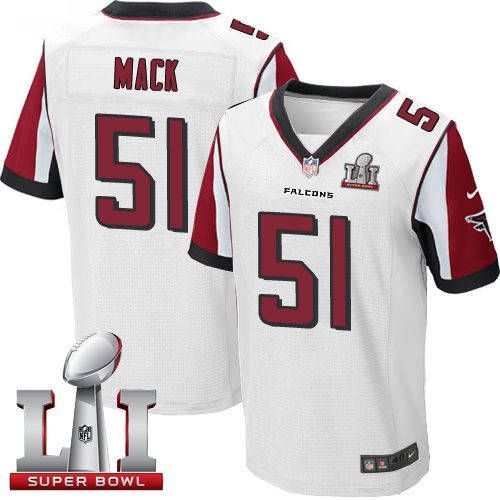 Wholesale Men's Nike Atlanta Falcons #51 Alex Mack Elite White Super Bowl LI  hot sale