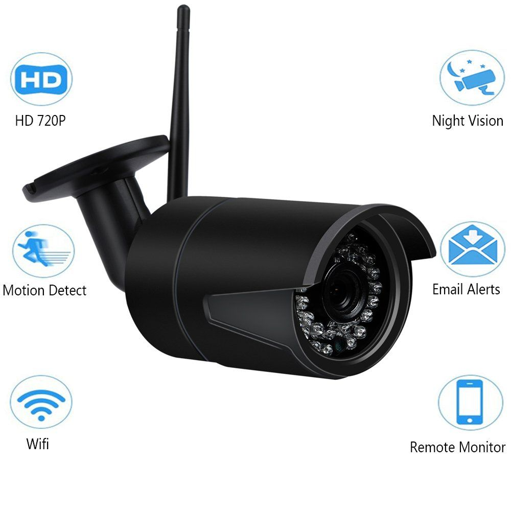 Security Camera 720p Home Camera Wireless Wifi IP Security ...