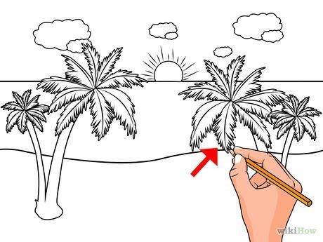 dibujar un paisaje de playa | paisajes | Pinterest