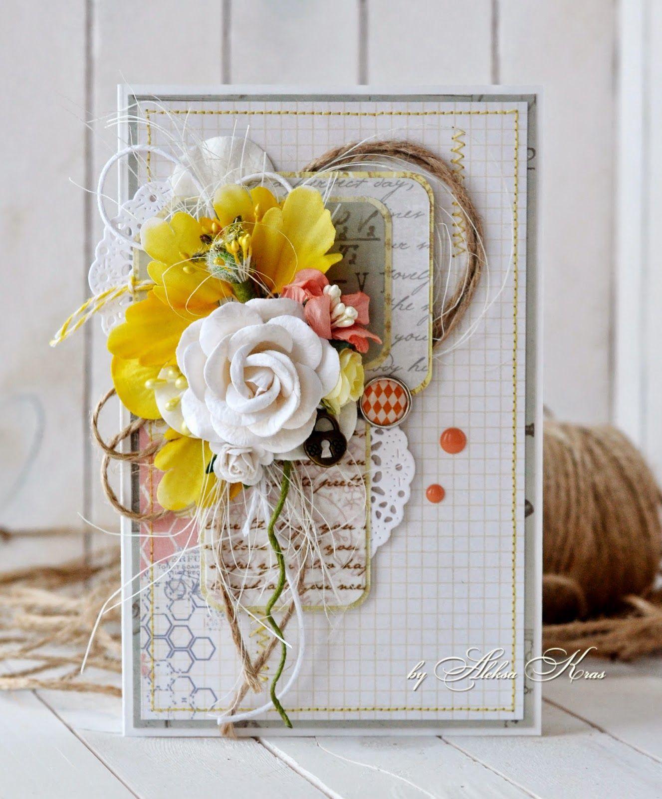 открытка с желтыми цветами своими руками часто