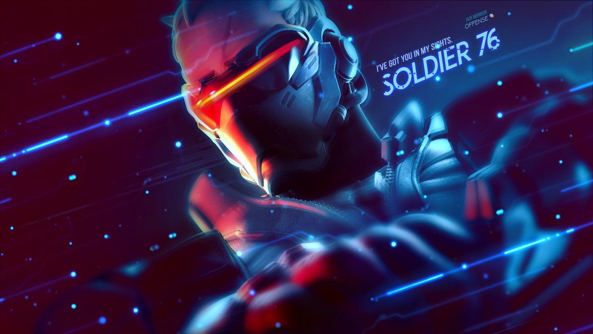 Soldier 76 Wallpaper For Android Overwatch Wallpapers Soldier 76 Overwatch