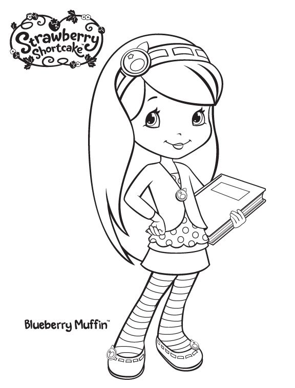 Coloring Pages Digi Stamps Strawberry Shortcake Coloring Pages