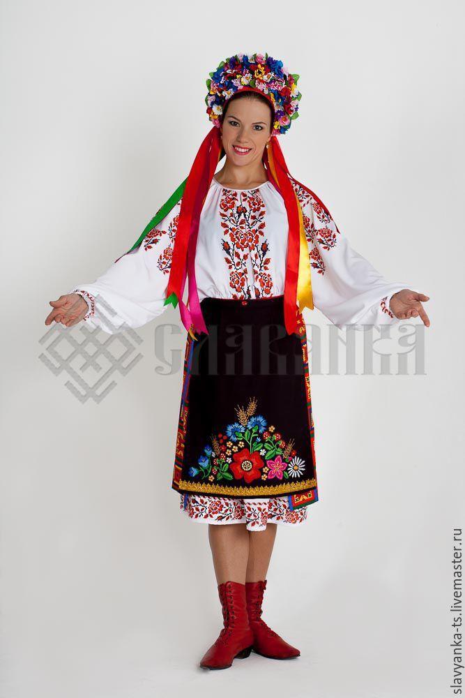 """Купить танцевальный костюм """"Украинский"""" - цветы, сарафан ..."""