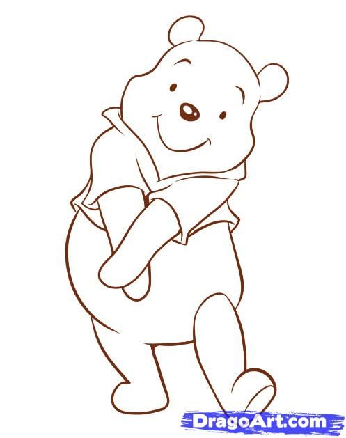 How To Draw Winnie The Pooh Characters Step By Step How To Draw Pooh by Dawn Winnie the pooh drawing