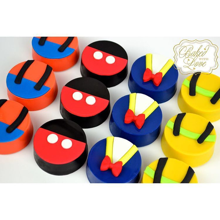 Mickey Mouse Clubhouse inspired chocolate covered Oreos to match our ...
