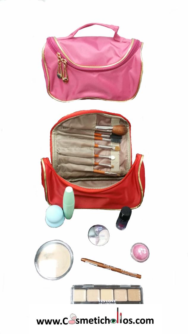 e6cb6122b Neceser de maquillaje completo con productos Neceser maquillaje ideal para  llevar en el bolso o de