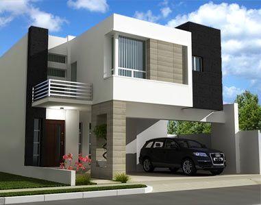 M s de 25 ideas incre bles sobre fachadas contemporaneas for Casa minimalista 80 metros