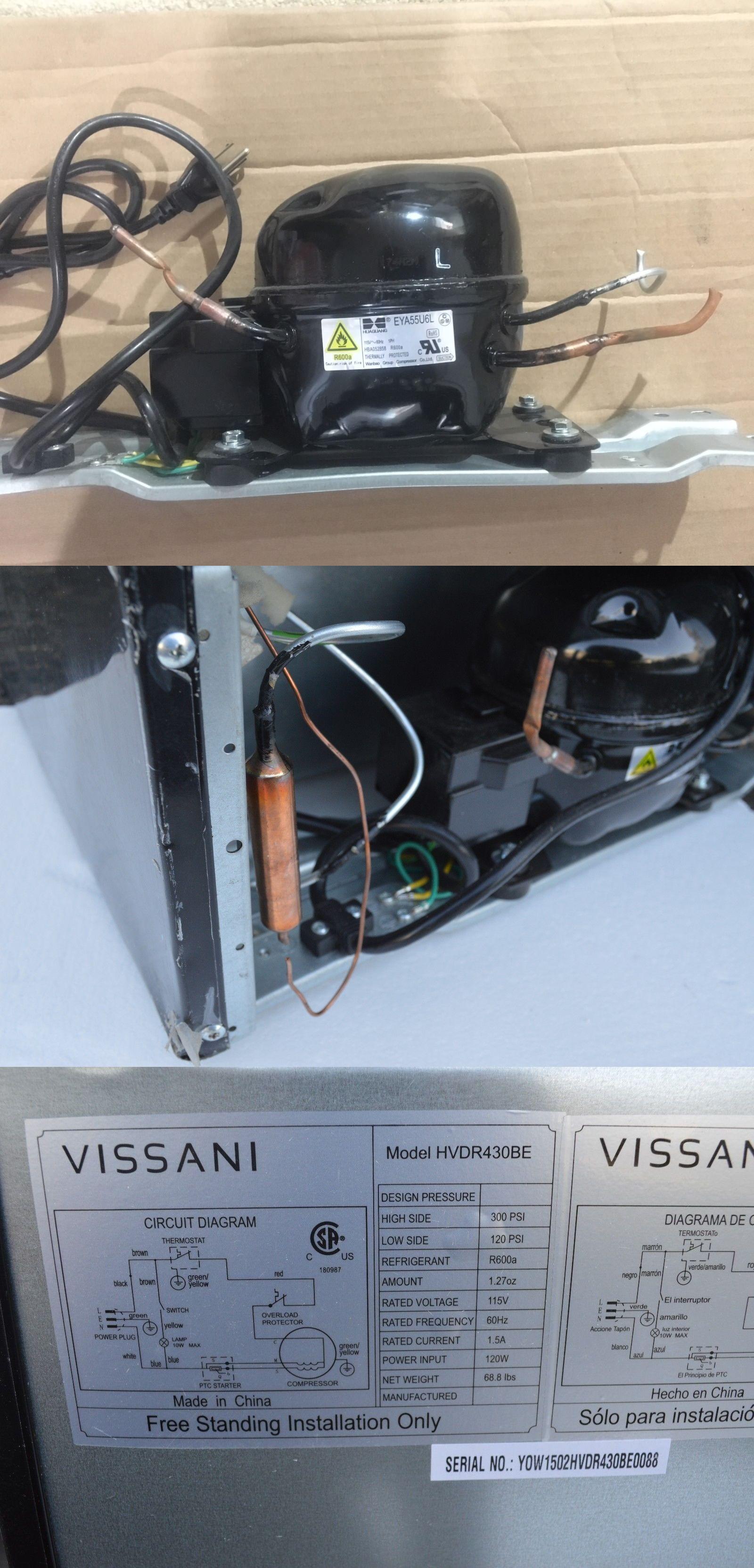 Mini Fridges 71262: Compressor Motor For Vissani Hvdr430be 4.3 Cu. Ft. Mini  Refrigerator -> BUY IT NOW ONLY: $50 on #eBay #fridges… | Mini fridges, Mini,  CompressorPinterest