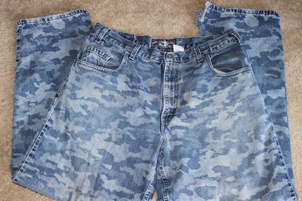 8db4ebd9 Vintage Levis SilverTab BAGGY Fit Denim Jeans Mens Size 36x32 CAMO & RARE! # SilverTab #BaggyLoose