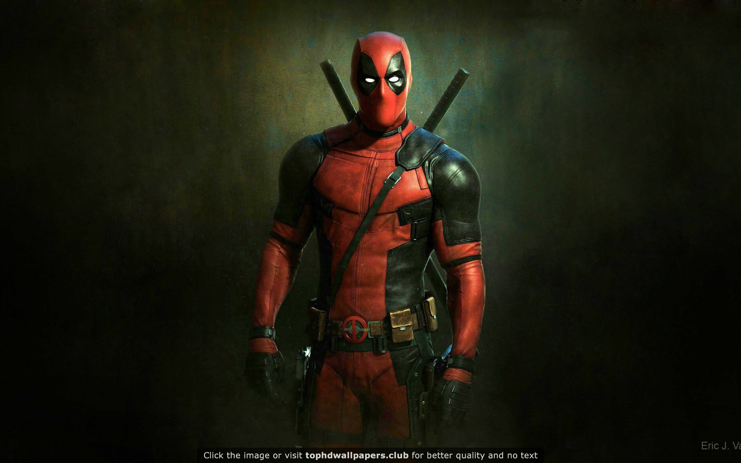 Deadpool On A Dark Background Hd Wallpaper Deadpool Movie Deadpool Art Deadpool Wallpaper