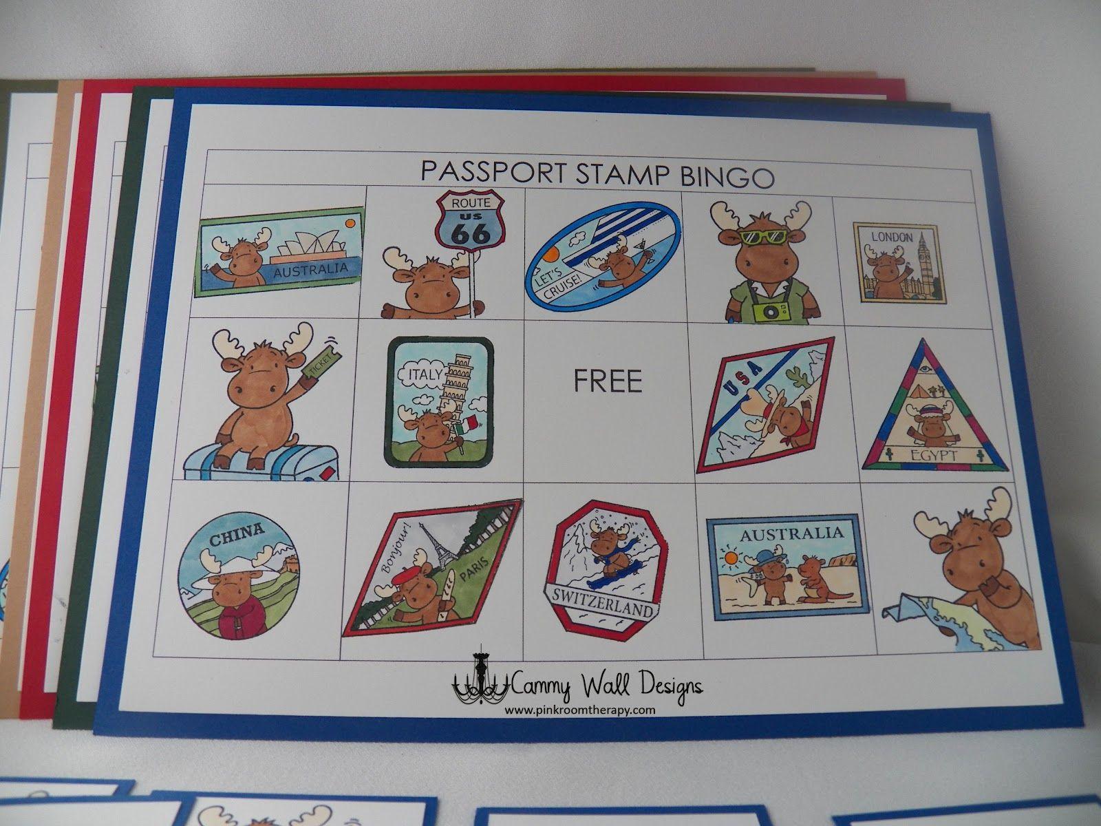 Passport Stamp Bingo