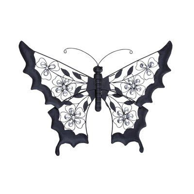 Woodland Imports 64686 Metal And Acrylic Butterfly Garden Decor   Outdoor  Living Showroom