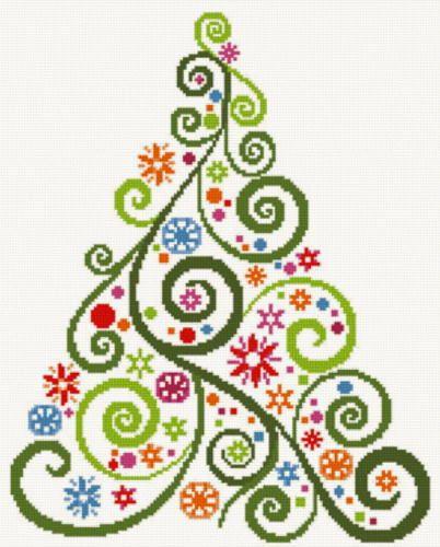 Abstract Christmas Tree Cross Stitch Pattern Cross Stitch Tree Cross Christmas Tree Cross Stitch Kits