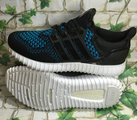 wholesale dealer 53f9f 0f48c Adidas Yeezy Ultra Boost 2016-2017 Black Blue Lagoon UK Trainers 2017 Running  Shoes