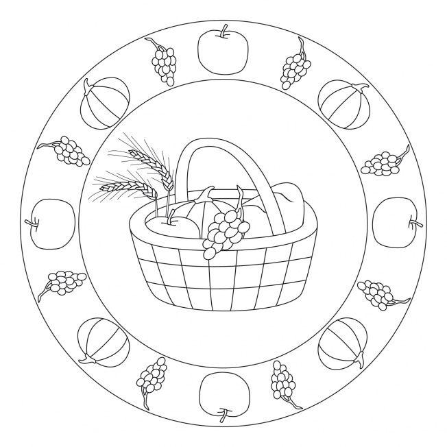 kindergarten herbst erntedank mandala  erntedank