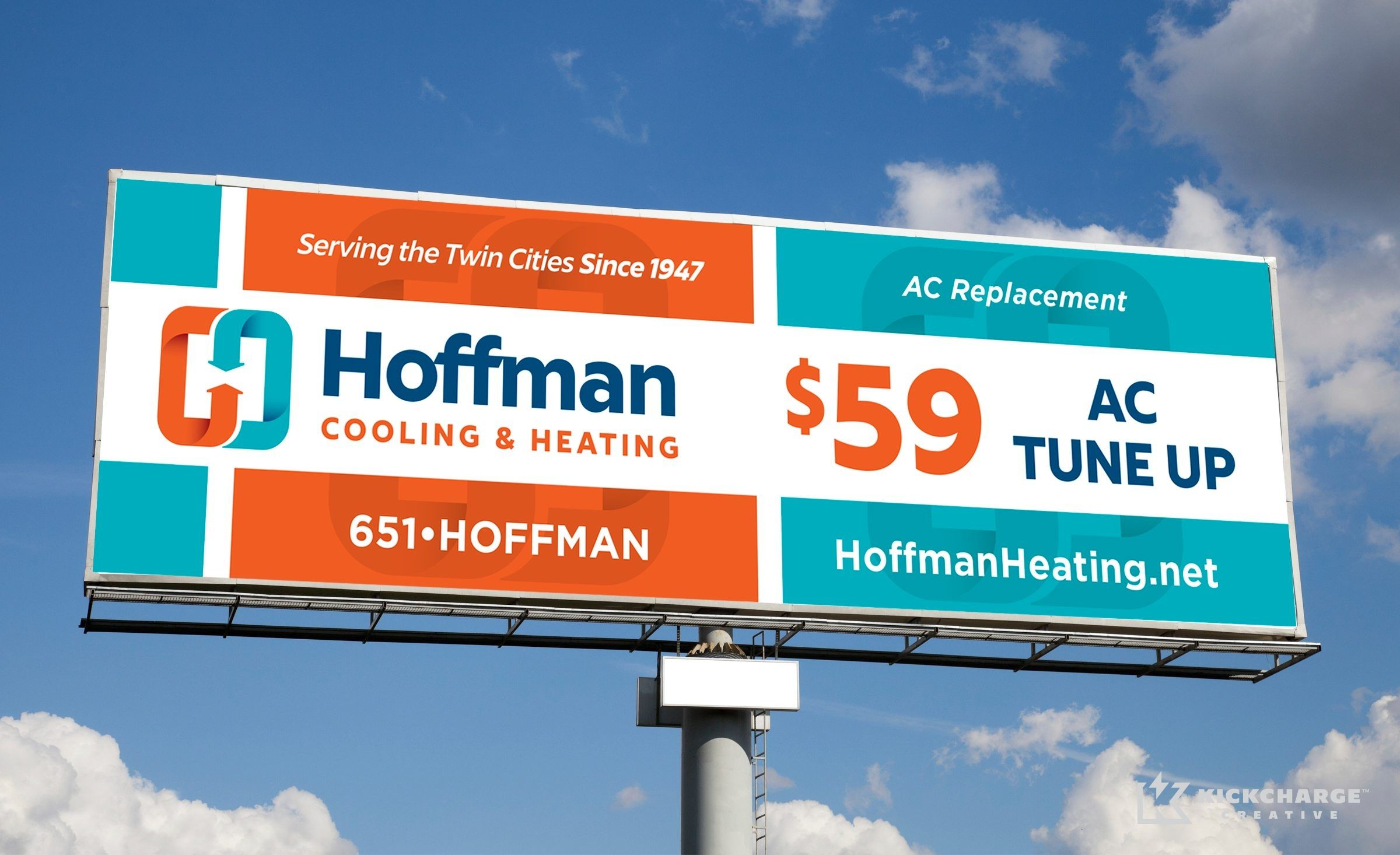 Hoffman Cooling Heating Kickcharge Creative Outdoor Advertising Ac Replacement Twin Cities