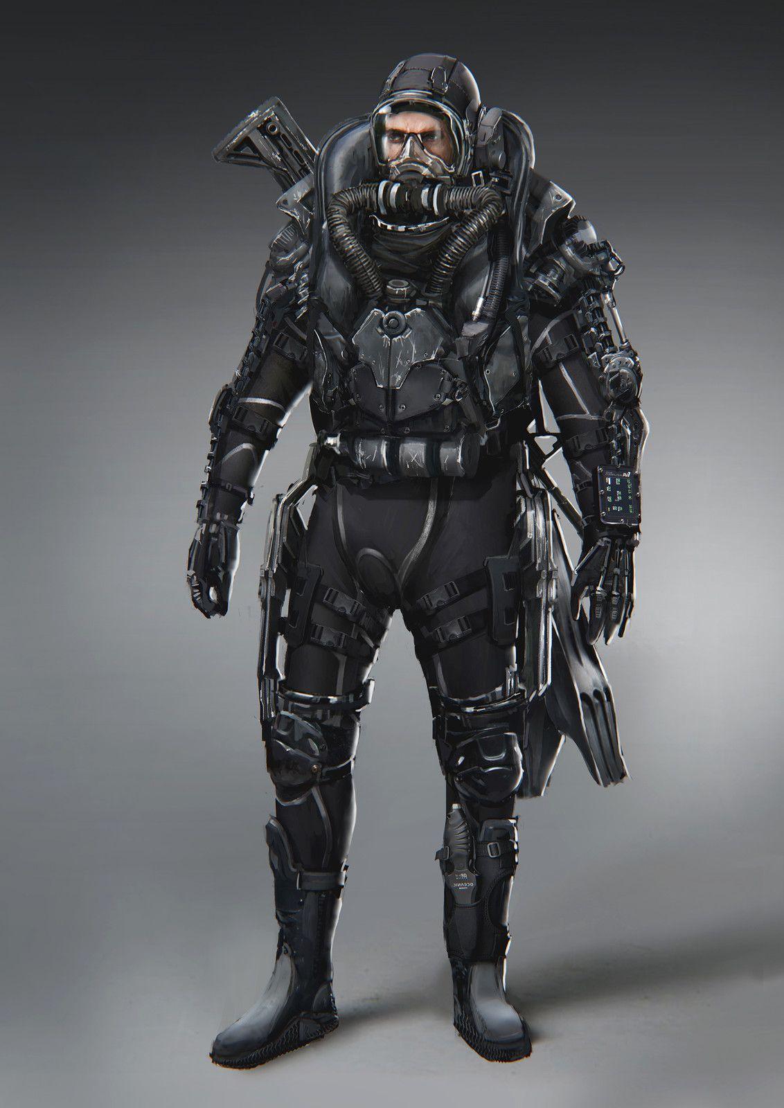 Pin by donald mckelvy on cyberpunk pinterest diving deep sea diver and scuba diving - Navy seal dive gear ...